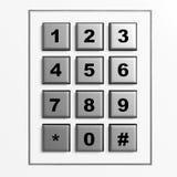 Cojín numérico de plata de la seguridad Imagenes de archivo