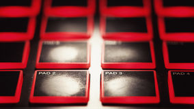 Cojín para teclear del finger Imágenes de archivo libres de regalías