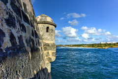 Cojimar堡垒-哈瓦那,古巴 库存图片