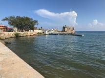 Cojimar fästning i havannacigarr Fotografering för Bildbyråer