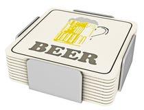 Cojines del vidrio de cerveza Foto de archivo libre de regalías