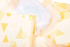 Cojines regulares ultra finos para las mujeres con las alas flexibles Imágenes de archivo libres de regalías