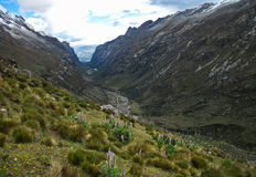 Cojup谷,山脉布朗卡,秘鲁 库存照片