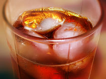 Coke. Close-up of a glass of Coca Cola with ice Royalty Free Stock Photo