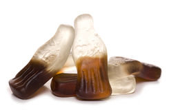 Coke bottle sweets Stock Image