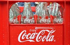Coke Bottles stock photo