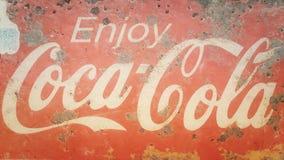 Coke. Coca cola text Royalty Free Stock Photography
