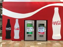 Coke Cola Vending Machines Located In A Mall In Chandler Arizona royalty free stock photos