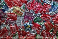 Coke compresso Fotografie Stock