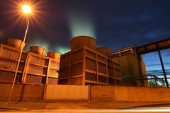 Coke-oven plant. Industrial Coke-oven plant in the night Stock Image
