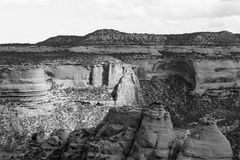 Coke Ovens Overlook in Monochrome royalty free stock image