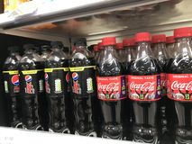 Coke and pepsi royalty free stock photography