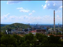 Coke plant with heap. Coke plant with Ema heap in back Royalty Free Stock Image