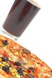 Cokes en pizza Stock Foto's