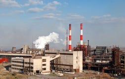 Cokesfabriek royalty-vrije stock afbeeldingen
