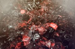 Cokesfles in Thailand stock foto