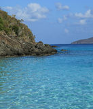 Coki海湾在圣托马斯 免版税库存照片