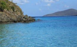 Coki海湾在圣托马斯 免版税图库摄影