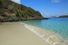 Coki Bay in St Thomas. U.S. Virgin Islands royalty free stock photos