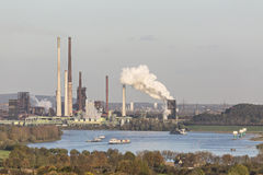 Coking Plant And River Stock Image
