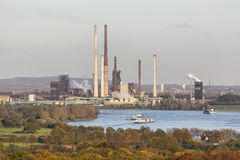 Coking Plant And River Royalty Free Stock Photo