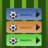 Cokour sport menu of soccer illustration eps 10. Cokour sport menu of soccer illustration eps10 Stock Images