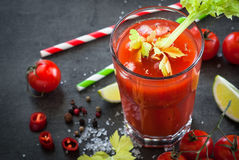 Coktail di bloody mary fotografie stock