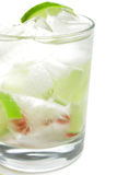 Coktail with lime Royalty Free Stock Images