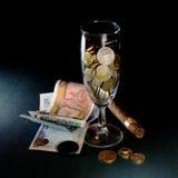 coktail pieniądze zdjęcie royalty free