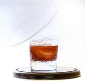 Coktail served in smoke Stock Photo