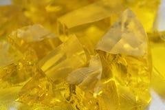 Colágeno jugoso de la comida del postre fresco del extracto del atasco de los cubos de Jelly Sweet Marmalade Golden Pieces que co Fotos de archivo libres de regalías