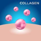 Colágeno y piel colágeno rosado libre illustration