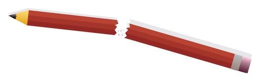 Colère de crayon illustration de vecteur