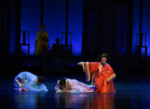 Colère des impératrices concubine-désillusion-modernes impériales de drame dans le palais Images libres de droits