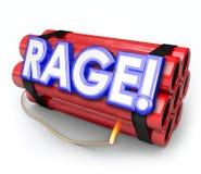 Colère explosive de bombe de dynamite de rage environ à exploser Image libre de droits