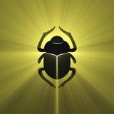 Coléoptère égyptien de scarabée de symbole Images libres de droits