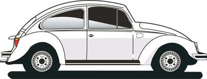 Coléoptère blanc de VW illustration stock