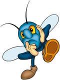 Coléoptère bleu illustration de vecteur