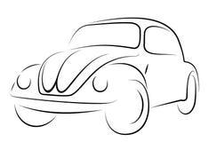 Coléoptère de Volkswagen de véhicule Image libre de droits