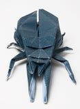 Coléoptère fabriqué à la main d'origami Images libres de droits
