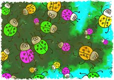 Coléoptères grunges Photographie stock libre de droits