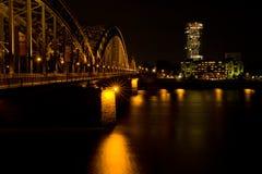 Colónia na noite Imagens de Stock Royalty Free