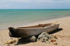 Colômbia, barco de pesca no La Guajira imagens de stock royalty free