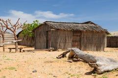 Colômbia, casa de campo tradicional da pesca no La Guajira Foto de Stock Royalty Free