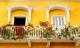 Colômbia, vista no Cartagena velho fotos de stock royalty free