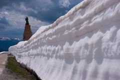 Col Петит St Bernard, Савойя, Франции стоковые фото