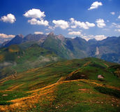 Col. The col d'aubisque in the pyrenees-atlantique aquitaine france Royalty Free Stock Photography