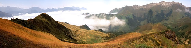 Col. The col d'aubisque in the pyrenees-atlantique aquitaine france Stock Photography