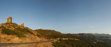 Col de Ла Сьерра, Haute Corse, накидка Corse, Корсика, верхняя Корсика, Франция, Европа, остров стоковое изображение rf