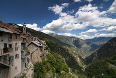 Col de Ла Couillole (француз Альпы) стоковые фото